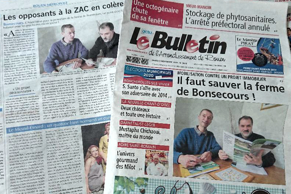 Coup double dans la presse